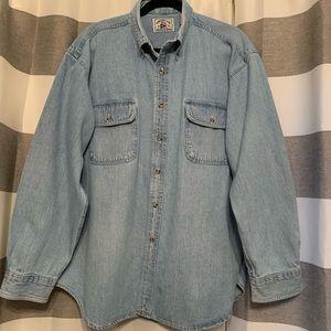 Vintage American Blue Authentic Denim Shirt XL